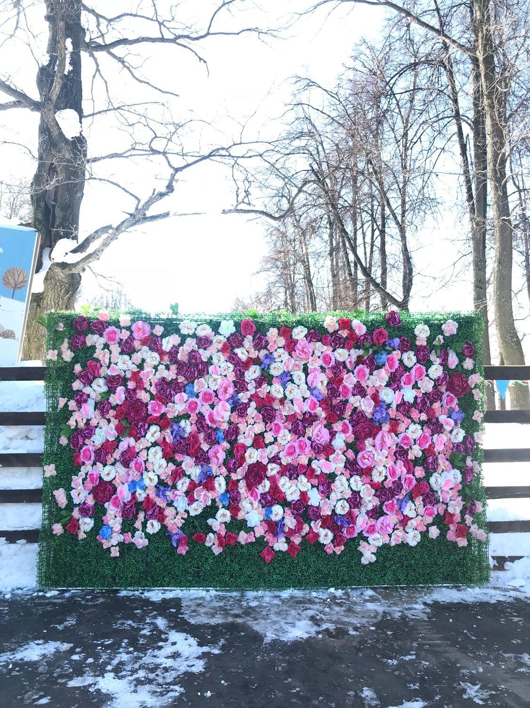 Фотозона из цветов , цветочная стена, аренда, Фитодизайн, Москва, Фото №1