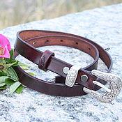 Аксессуары handmade. Livemaster - original item Women`s leather belt