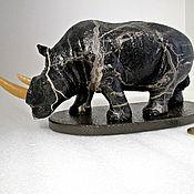 Для дома и интерьера ручной работы. Ярмарка Мастеров - ручная работа Носорог из окаменелого дерева, натурального природного. Handmade.