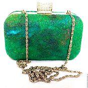 Сумки и аксессуары ручной работы. Ярмарка Мастеров - ручная работа Клатч зеленый маленькая вечерняя сумка Изумруд. Handmade.