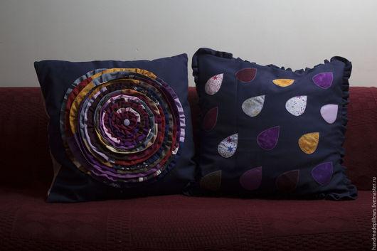 """Текстиль, ковры ручной работы. Ярмарка Мастеров - ручная работа. Купить Подушки """"К подруге"""". Handmade. Бордовый, кантри стиль"""