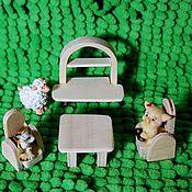 Куклы и игрушки ручной работы. Ярмарка Мастеров - ручная работа Кукольная мебель для кукол, миниатюра, набор. Handmade.