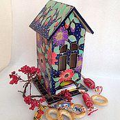 """Для дома и интерьера ручной работы. Ярмарка Мастеров - ручная работа Чайный домик """"Тропическая ночь"""". Handmade."""