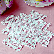 Для дома и интерьера handmade. Livemaster - original item Lace miniature. Handmade lace. Len. Rose tea. Handmade.
