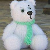 Куклы и игрушки ручной работы. Ярмарка Мастеров - ручная работа Вязаный снежный медвежонок. Handmade.