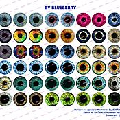 Материалы для творчества handmade. Livemaster - original item Irises for dolls and toys, 18 mm, printout metallic. Handmade.