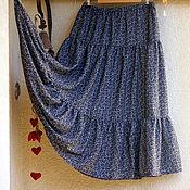 """Одежда ручной работы. Ярмарка Мастеров - ручная работа Летняя воздушная длинная юбка """"Листья"""". Handmade."""