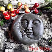 """Заговорная свеча ручной работы. Ярмарка Мастеров - ручная работа Свеча """"Луна и Солнце"""". Handmade."""