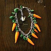 """Украшения ручной работы. Ярмарка Мастеров - ручная работа Браслет """"Морковка"""". Handmade."""