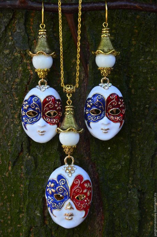 Комплекты украшений ручной работы. Ярмарка Мастеров - ручная работа. Купить Набор Венецианские Маски. Handmade. Комбинированный, маска, маски