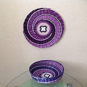 """Корзины ручной работы. Ярмарка Мастеров - ручная работа Плетеная тарелка панно """"2"""", корзинка. Handmade."""