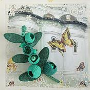 Украшения handmade. Livemaster - original item Brooch emerald branch. Handmade.