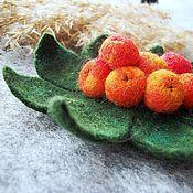 Украшения handmade. Livemaster - original item Felt brooch Ryabinka. Handmade.