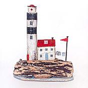 """Для дома и интерьера ручной работы. Ярмарка Мастеров - ручная работа Морская композиция """"Старый маяк"""" driftwood. Handmade."""