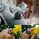 Кольца ручной работы. Ярмарка Мастеров - ручная работа. Купить Кольцо ОМ УНИСЕКС выпуклое с Аметистом из серебра 925 пробы. Handmade.
