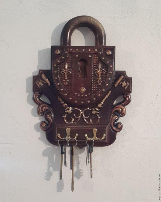 Прихожая ручной работы. Ярмарка Мастеров - ручная работа. Купить Ключница.. Handmade. Ключница, ключница настенная, из дерева, резьба по дереву