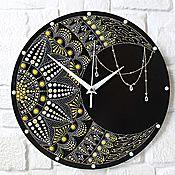 Для дома и интерьера handmade. Livemaster - original item Mandala Wall Clock-Magic of the Moon. diameter 30 cm.. Handmade.