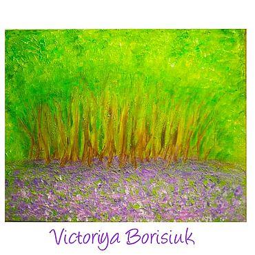 """Картины и панно ручной работы. Ярмарка Мастеров - ручная работа Картина """"Сиреневый лес"""" акрил. Handmade."""