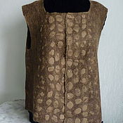 Одежда ручной работы. Ярмарка Мастеров - ручная работа Жилет валяный двухсторонний Оливковый. Handmade.
