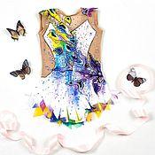 Одежда ручной работы. Ярмарка Мастеров - ручная работа Купальник для художественной гимнастики. Handmade.