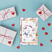 Открытки handmade. Livemaster - original item From a great love. Valentine Postcard. Handmade.