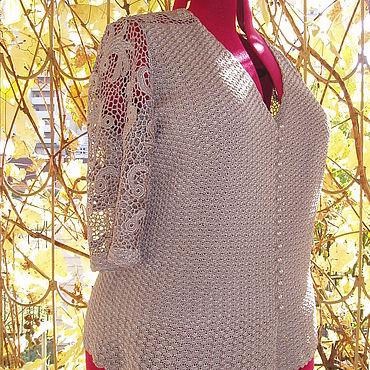 Одежда ручной работы. Ярмарка Мастеров - ручная работа Жакет из вискозы Жемчужный. Handmade.