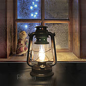 Для дома и интерьера handmade. Livemaster - original item Kerosene lamp electric table brown lamp retro. Handmade.