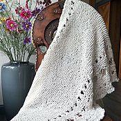 Одежда ручной работы. Ярмарка Мастеров - ручная работа Белый летний палантин из хлопка. Handmade.