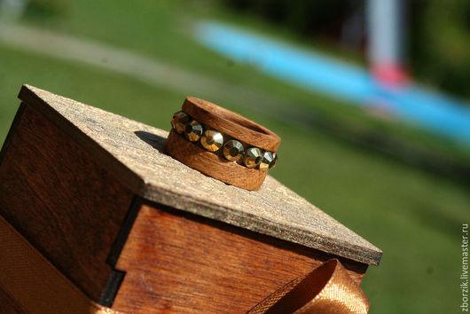 Кольца ручной работы. Ярмарка Мастеров - ручная работа. Купить Дуб с камнями. Handmade. Подарок девушке, свадьба, деревянные кольца