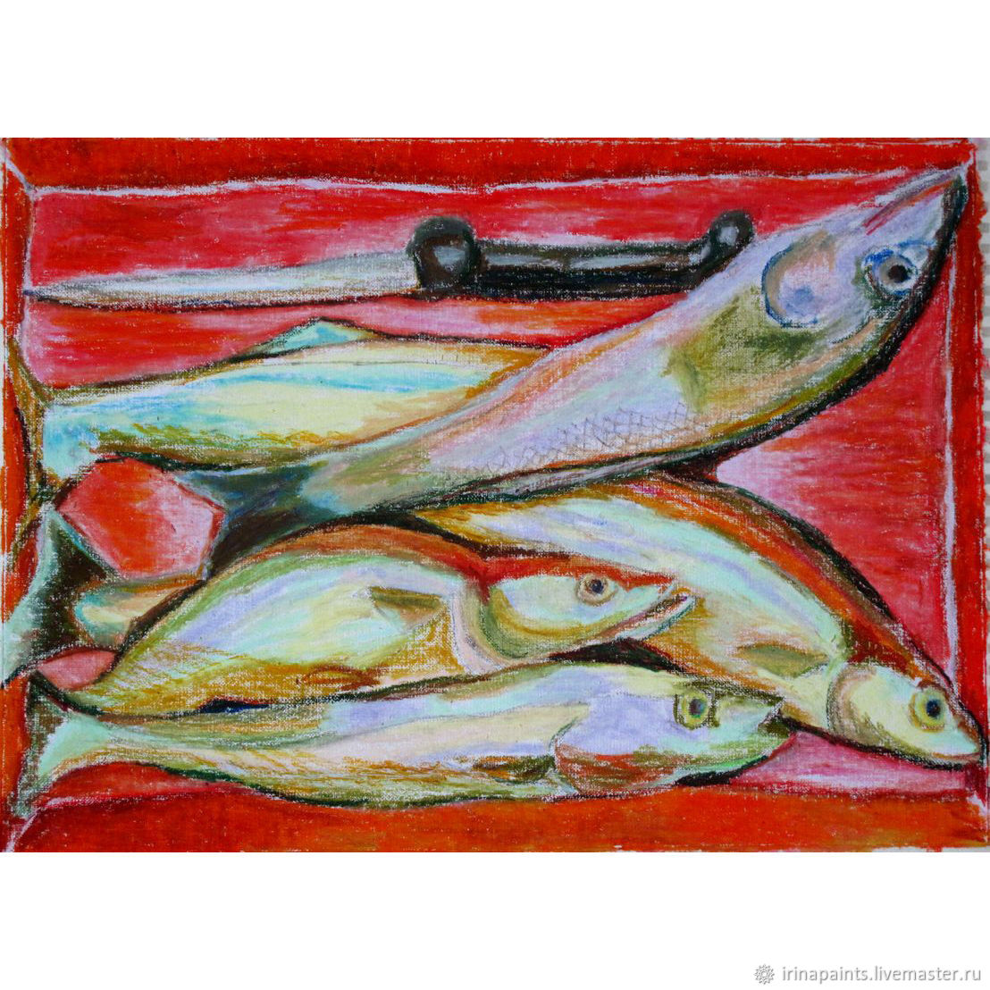 Рыбы в красном, Картины, Москва,  Фото №1