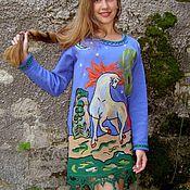 """Одежда ручной работы. Ярмарка Мастеров - ручная работа Платье вязаное """"Сивка-бурка"""". Handmade."""
