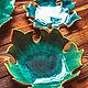 Заказать Тарелочки в форме листьев и блюда с отпечатками растений. Forest in my soul. Ярмарка Мастеров. . Кухонные наборы Фото №3