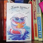 Открытки handmade. Livemaster - original item Bard card with the cute whale