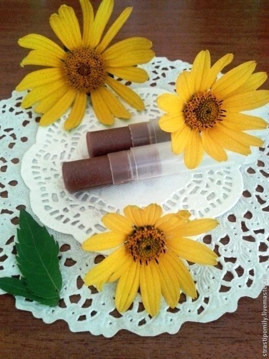 Бальзам для губ ручной работы. Ярмарка Мастеров - ручная работа. Купить Шоколадный бальзам для губ. Handmade. Коричневый