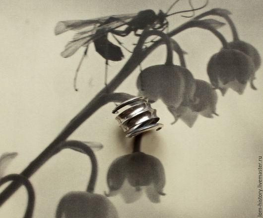 «Спираль» серебряное кольцо