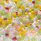 Материалы для творчества handmade. Livemaster - original item 5g 11/0 Delica MIX 09 Lemonade Japanese seed beads Miyuki. Handmade.