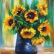 """Картины и панно ручной работы. Ярмарка Мастеров - ручная работа """"Дети солнца"""" картина маслом на холсте, картины цветов, цветков, букет. Handmade."""