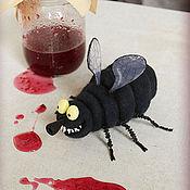 Мягкие игрушки ручной работы. Ярмарка Мастеров - ручная работа Мухи Виолетта, Генриетта, Эдита и Шарлотта. Handmade.