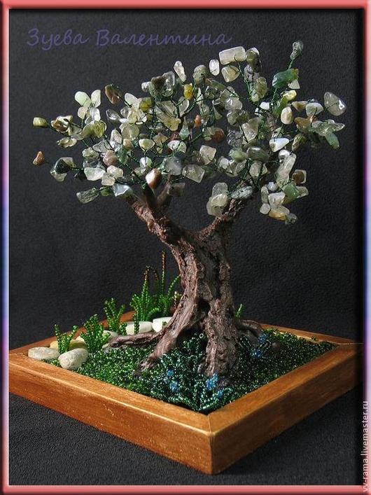 Деревья ручной работы. Ярмарка Мастеров - ручная работа. Купить Дерево из натуральной яшмы. Handmade. Болотный, бисерное дерево