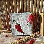 Посуда handmade. Livemaster - original item Cutting boards: With pepper. Handmade.