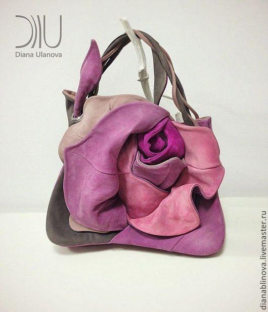 Женские сумки ручной работы. Ярмарка Мастеров - ручная работа. Купить Роза бутон. Handmade. Розовый, натуральная кожа