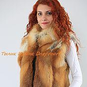 Одежда handmade. Livemaster - original item Fur vest Red autumn Fox. Handmade.