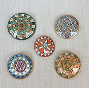 Брошь-булавка ручной работы. Ярмарка Мастеров - ручная работа Круглые броши по типу римских фибул. Handmade.