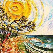 """Картины и панно ручной работы. Ярмарка Мастеров - ручная работа """" Солнечное побережье """" (копия).. Handmade."""