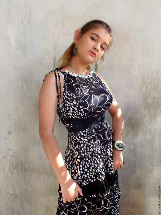 """Для будущих и молодых мам ручной работы. Ярмарка Мастеров - ручная работа. Купить Сарафан или платье """"Гороховый микс"""". Handmade."""