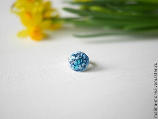"""Кольца ручной работы. Ярмарка Мастеров - ручная работа. Купить Кольцо """"Чешуя дракона"""". Handmade. Синий, кольцо ручной работы"""