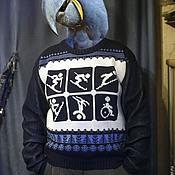 """Одежда ручной работы. Ярмарка Мастеров - ручная работа Свитер """"Трололо, лыжник"""". Handmade."""