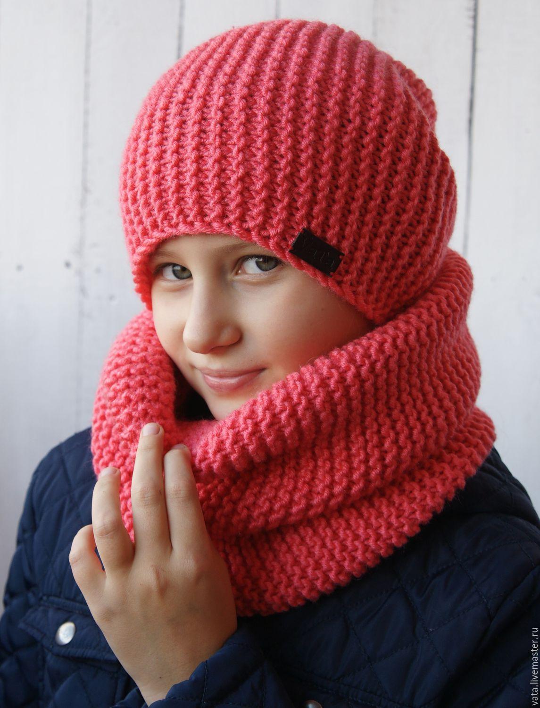 Детские шапки и снуд вязание