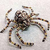 handmade. Livemaster - original item Brooch - SPIDER, gossip beaded.. Handmade.