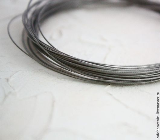 Для украшений ручной работы. Ярмарка Мастеров - ручная работа. Купить Ювелирный тросик (ланка) 0,45 мм 1 метр. Handmade.